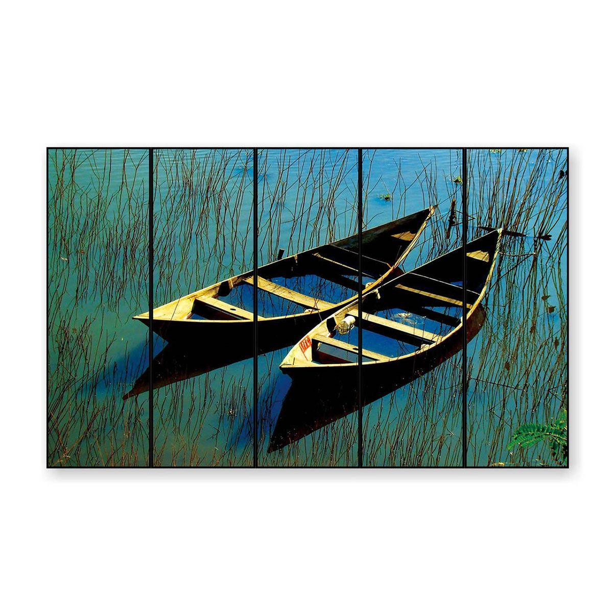 Quadro Decor As Canoas e o Lago