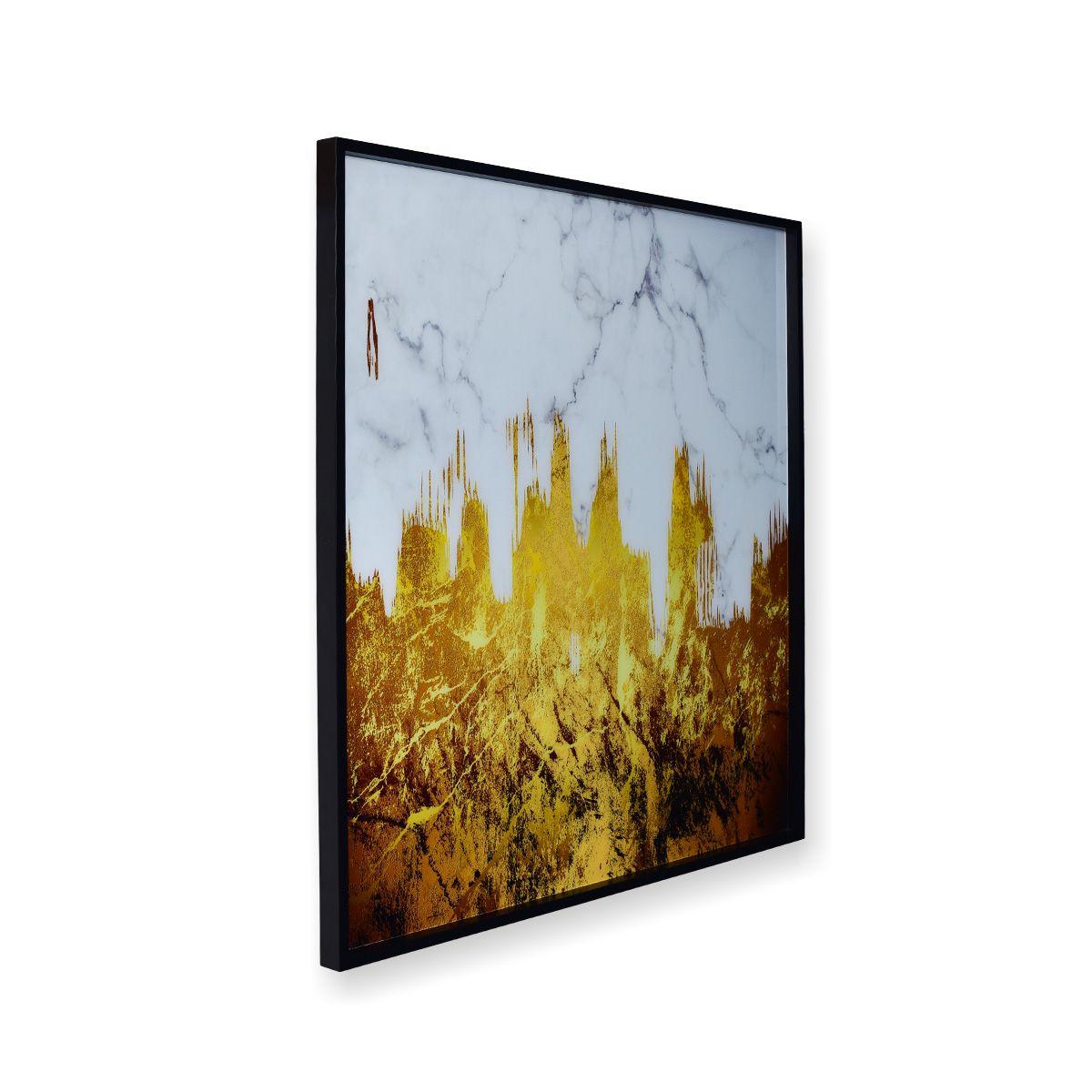 Quadro Decor Abstrato A Neve e o Ouro
