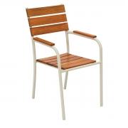Cadeira em Madeira e Alumínio CMA.03 - Bege