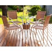 Conjunto Mesa com 4 Cadeiras em Alumínio e Fibra Sintética - MR101(4CR01)