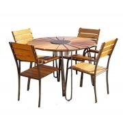 Conjunto Mesa e Cadeiras Eucalipto CJMC108M