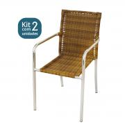 Kit 02 Cadeiras em Alumínio e Fibra Sintética 6mm (CR04)