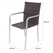CR03.C - Cadeira em Alumínio e Fibra Sintética 10mm