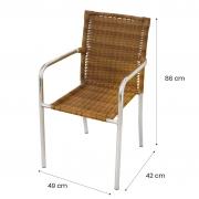 Kit 04 Cadeiras em Alumínio e Fibra Sintética 10mm KCR03.CE