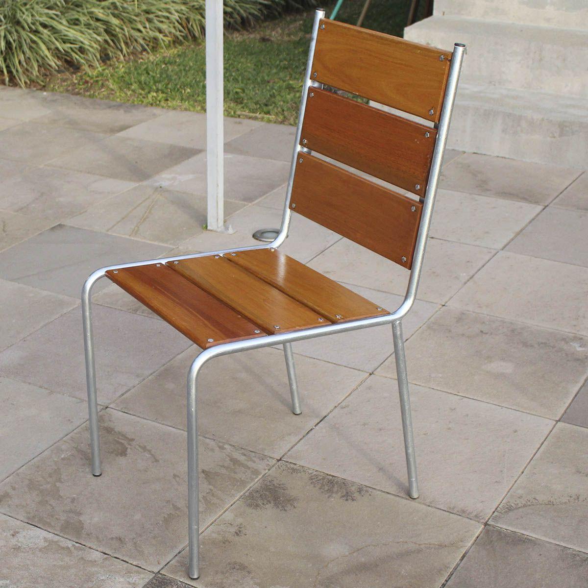 Kit 02 Cadeiras com Revestimento em Madeira CM44 (Caixa com 02 Un)