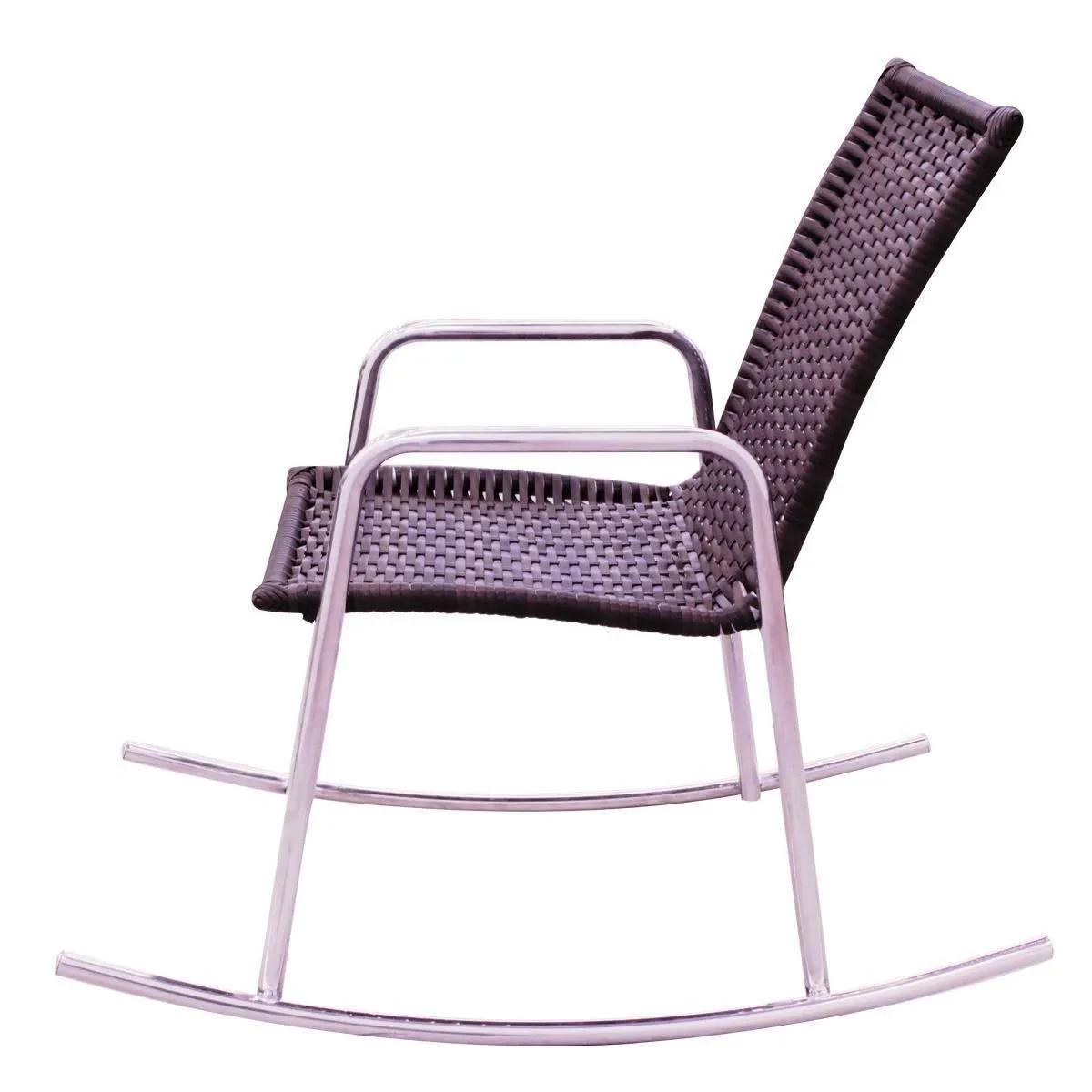 Cadeira de Balanço em Alumínio com Fibra Sintética CBR201