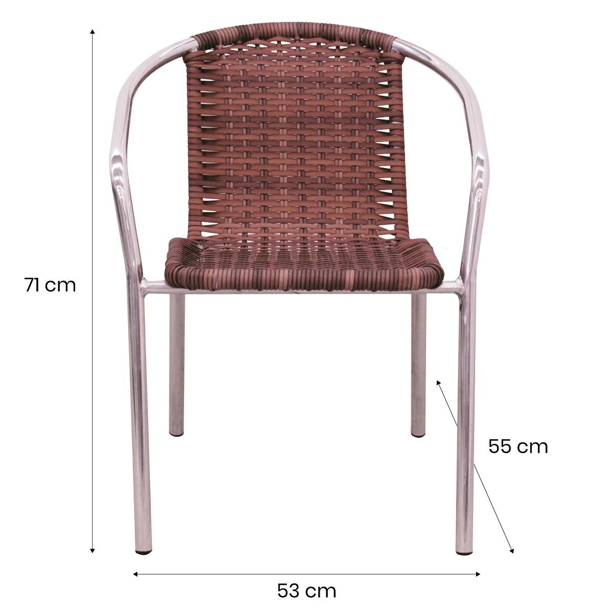 Cadeira em Alumínio e Fibra Sintética 10mm