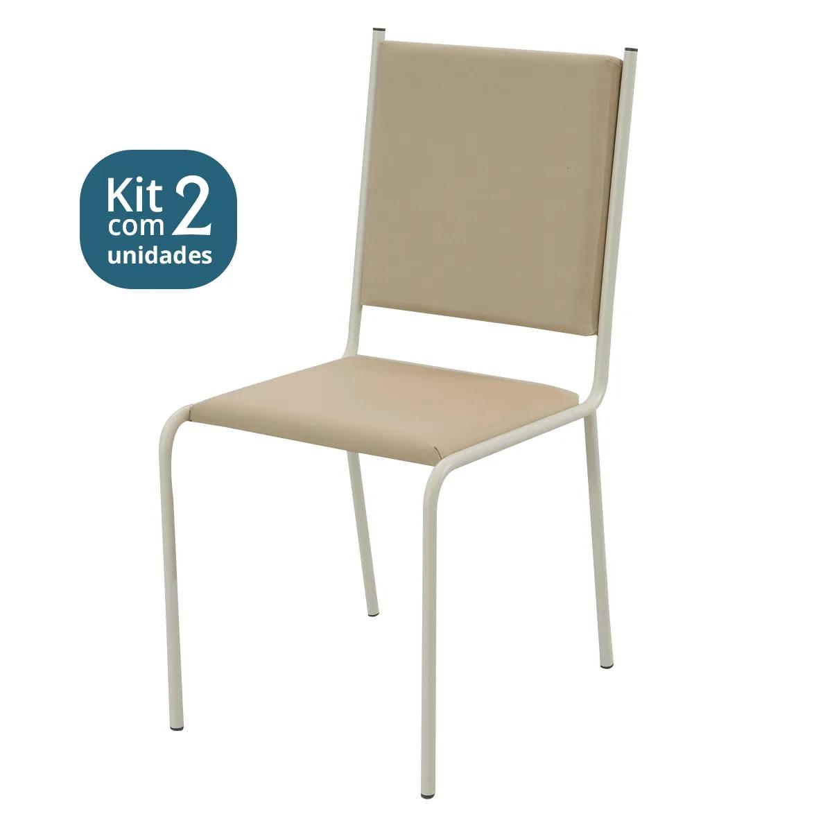 Kit 02 Cadeiras Estofadas Pintada > CE44