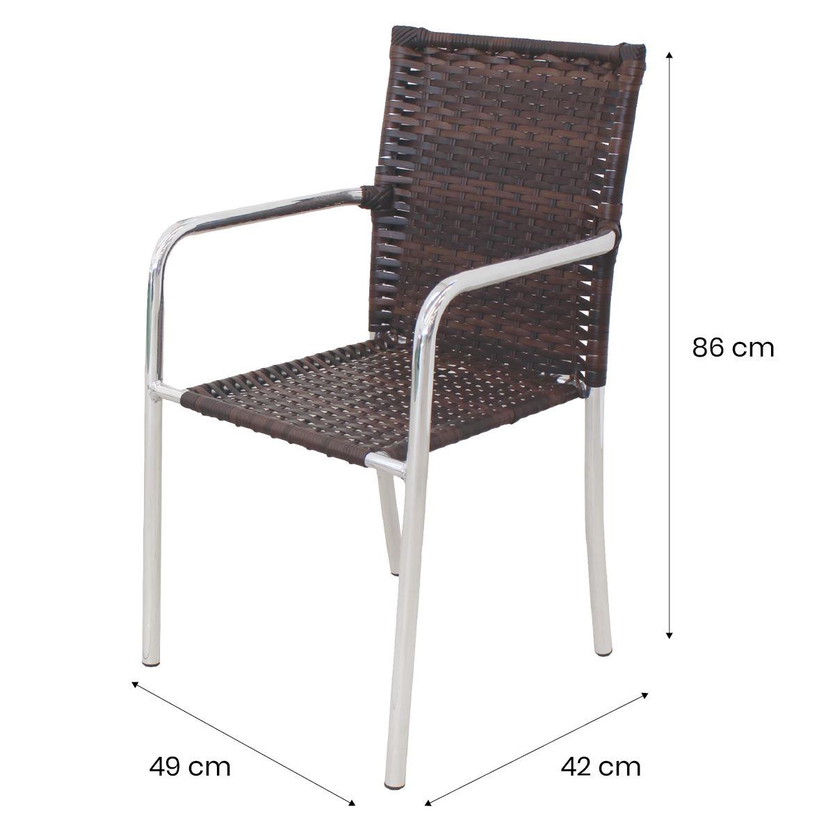 Conjunto Mesa com 4 Cadeiras em Alumínio e Fibra Sintética - CJMR103.03.CE