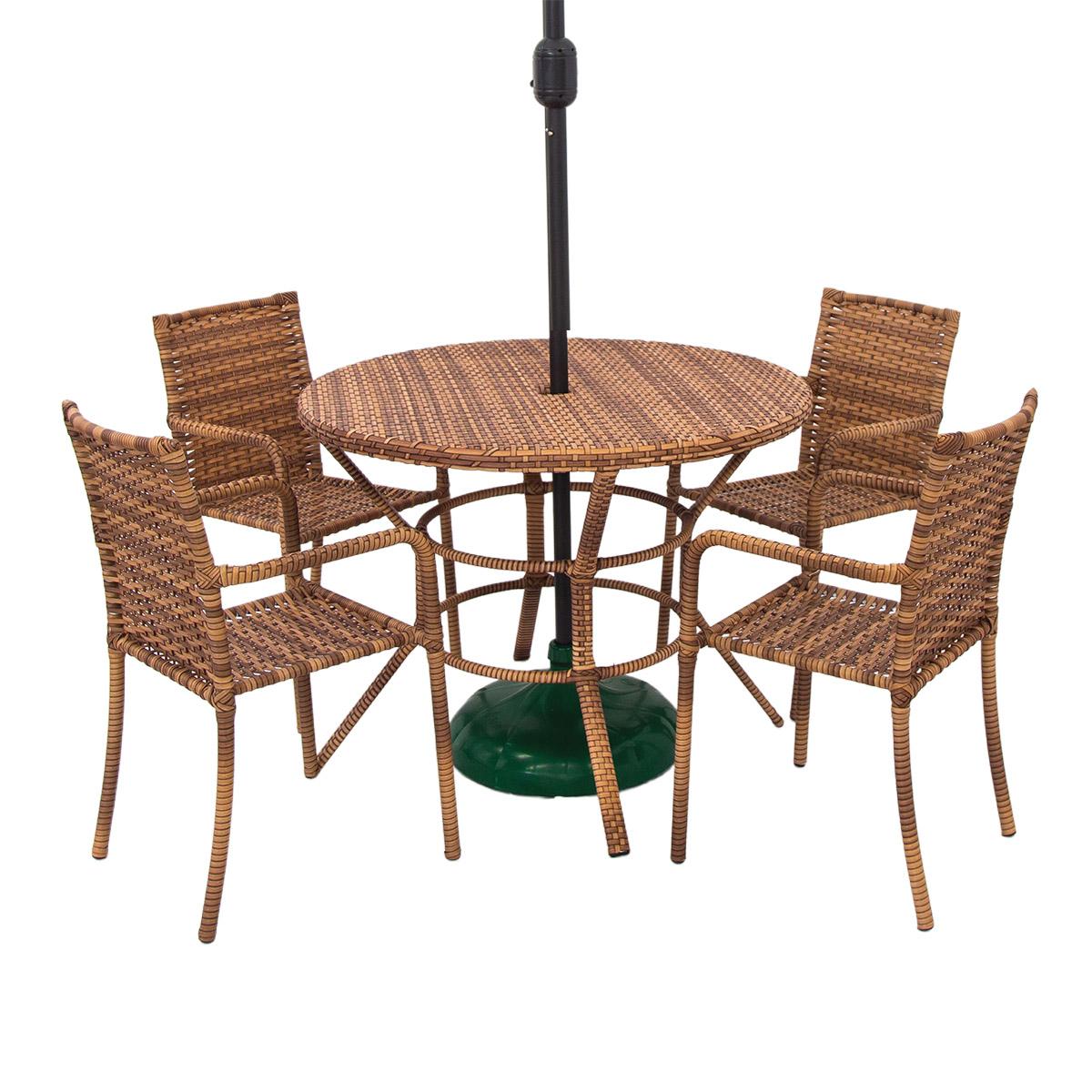 Conjunto Mesa e 04 Cadeiras CJMR104.05.CE - Castor Estonado