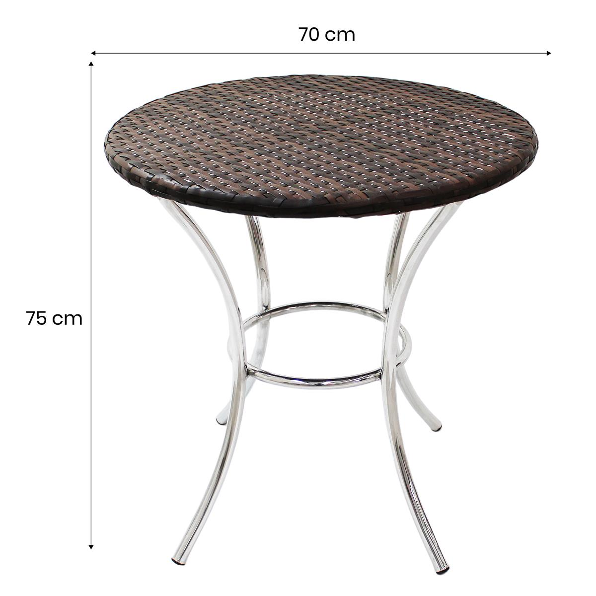 Conjunto Mesa com 4 Cadeiras em Alumínio e Fibra Sintética - MR103(4CR06)
