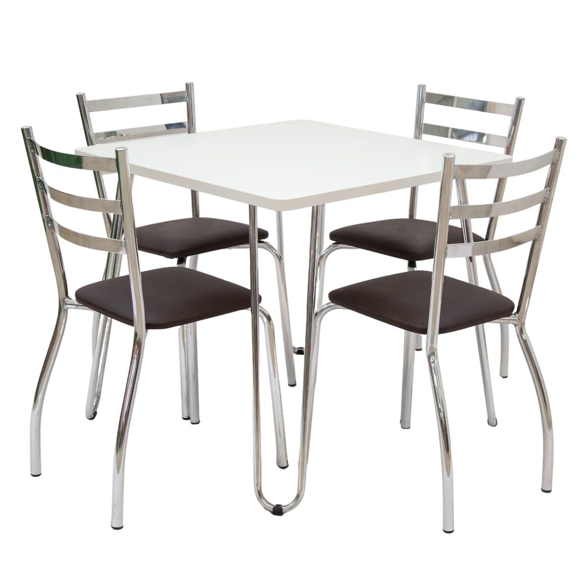 Conjunto Mesa e 04 Cadeiras em BP | CJMBP80