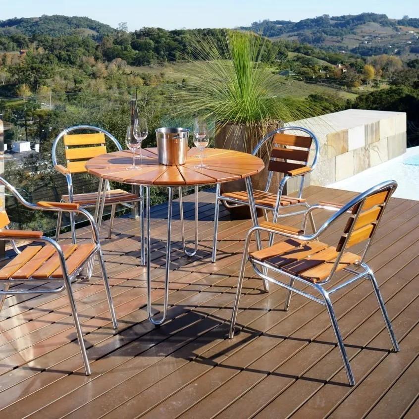 Conjunto Mesa e Cadeiras Eucalipto CJMA108M