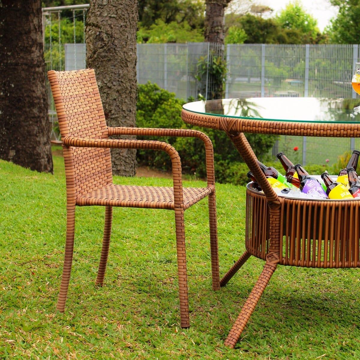 Conjunto Mesa e 04 Cadeiras em Alumínio e Fibra Sintética| MR102(4CR05)