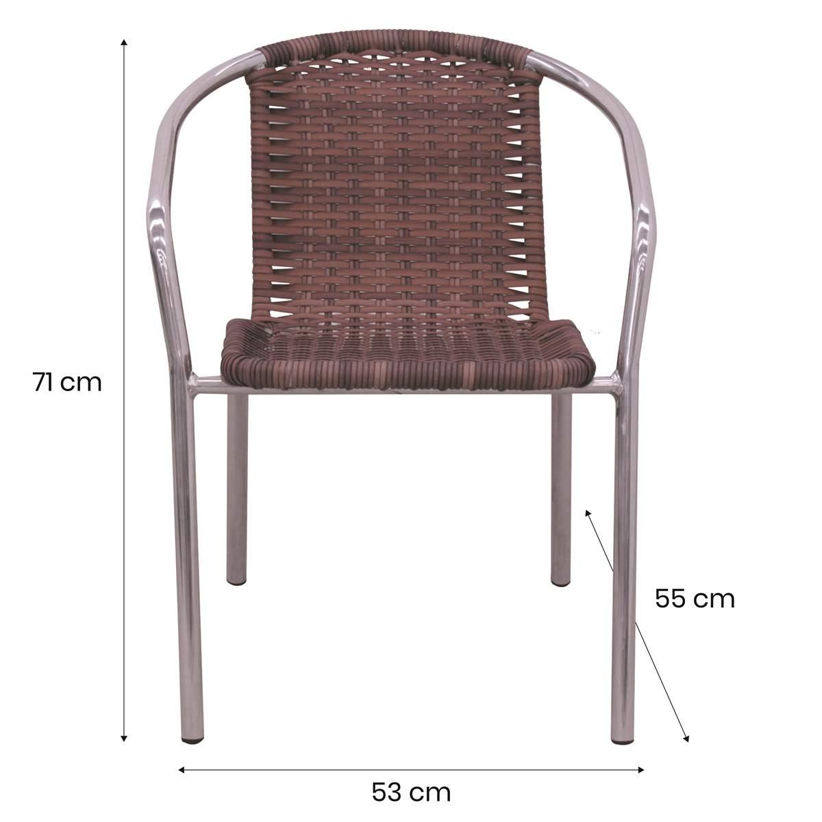 Conjunto Mesa e 04 Cadeiras em Alumínio e Fibra Sintética - MR103(4CR02)
