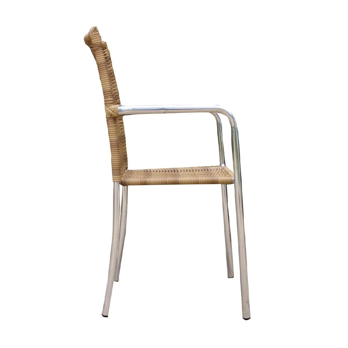 Kit 04 Cadeiras em Alumínio e Fibra Sintética 6mm (CR04)
