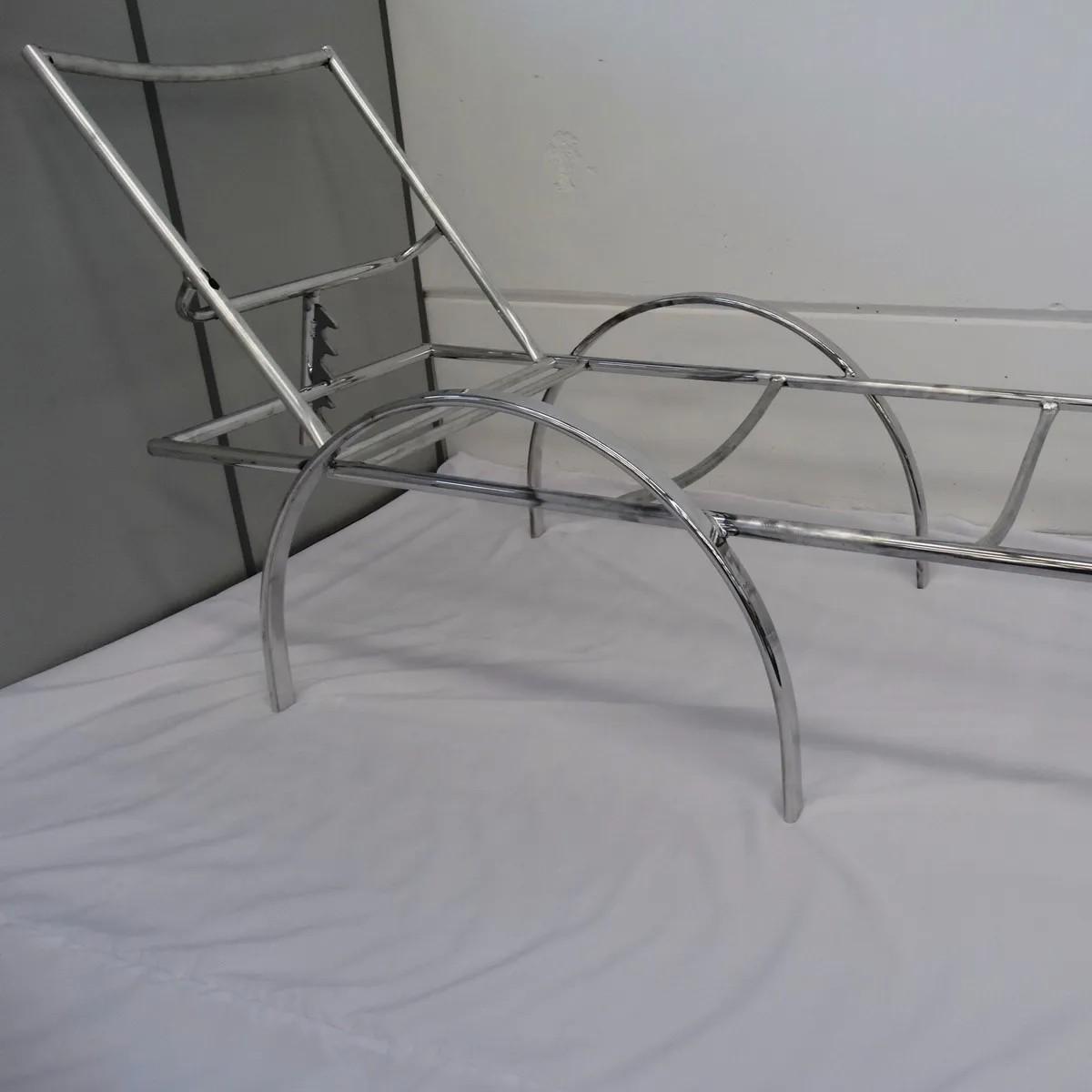 Estrutura em Alumínio   Espreguiçadeira em Fibra Sintética ER181