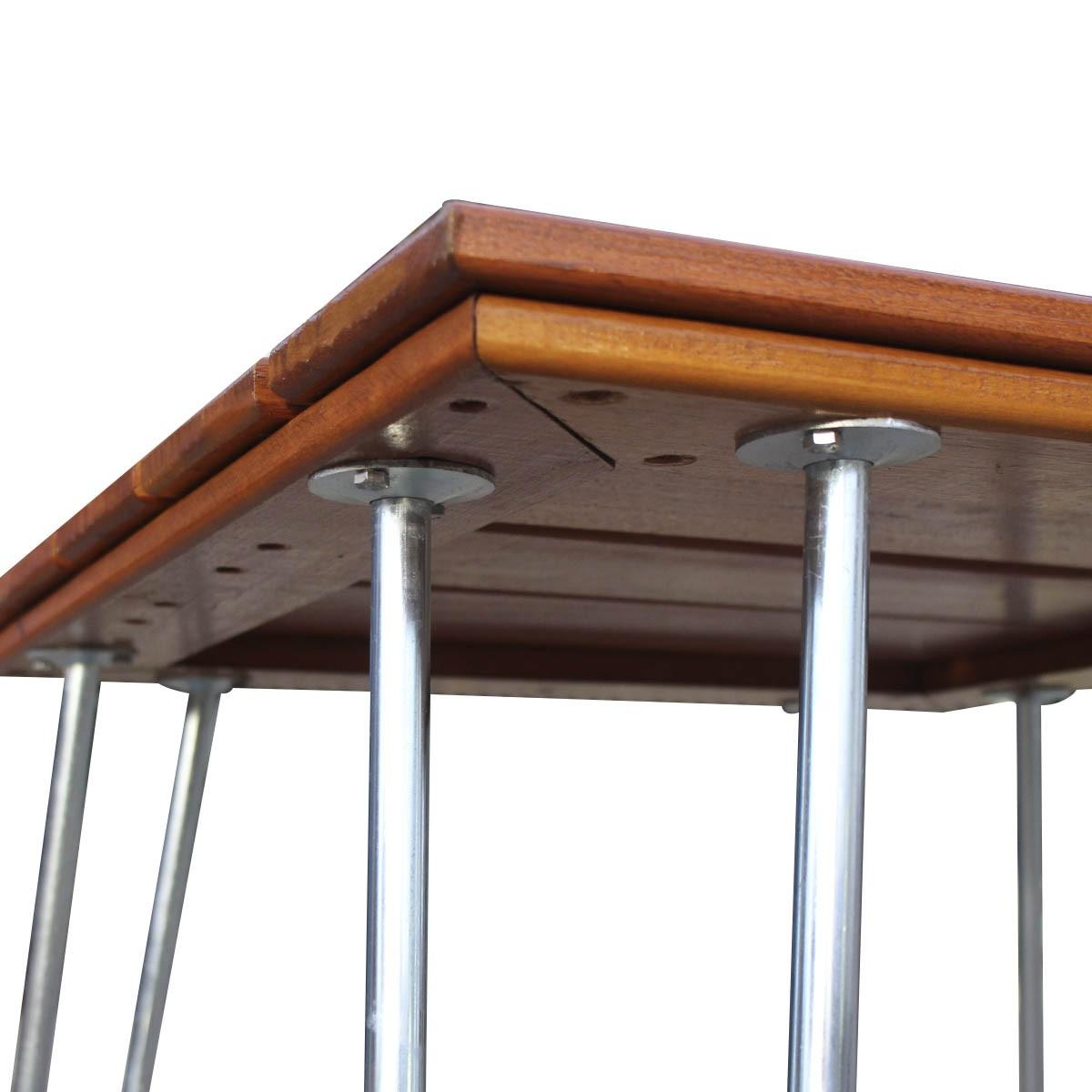 Kit 04 Pés para Mesa em Aço Galvanizado