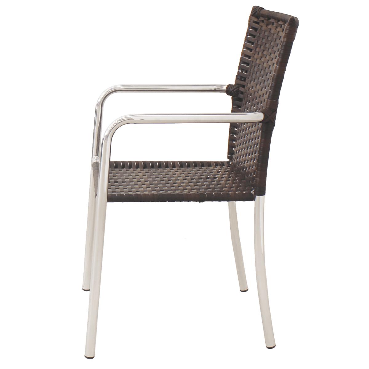 Conjunto Mesa e 04 Cadeiras em Alumínio e Fibra Sintética - MR103(4CR03)