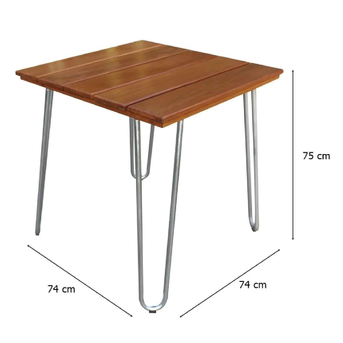 Mesa com tampo em Pinus 80 x 80cm MP80