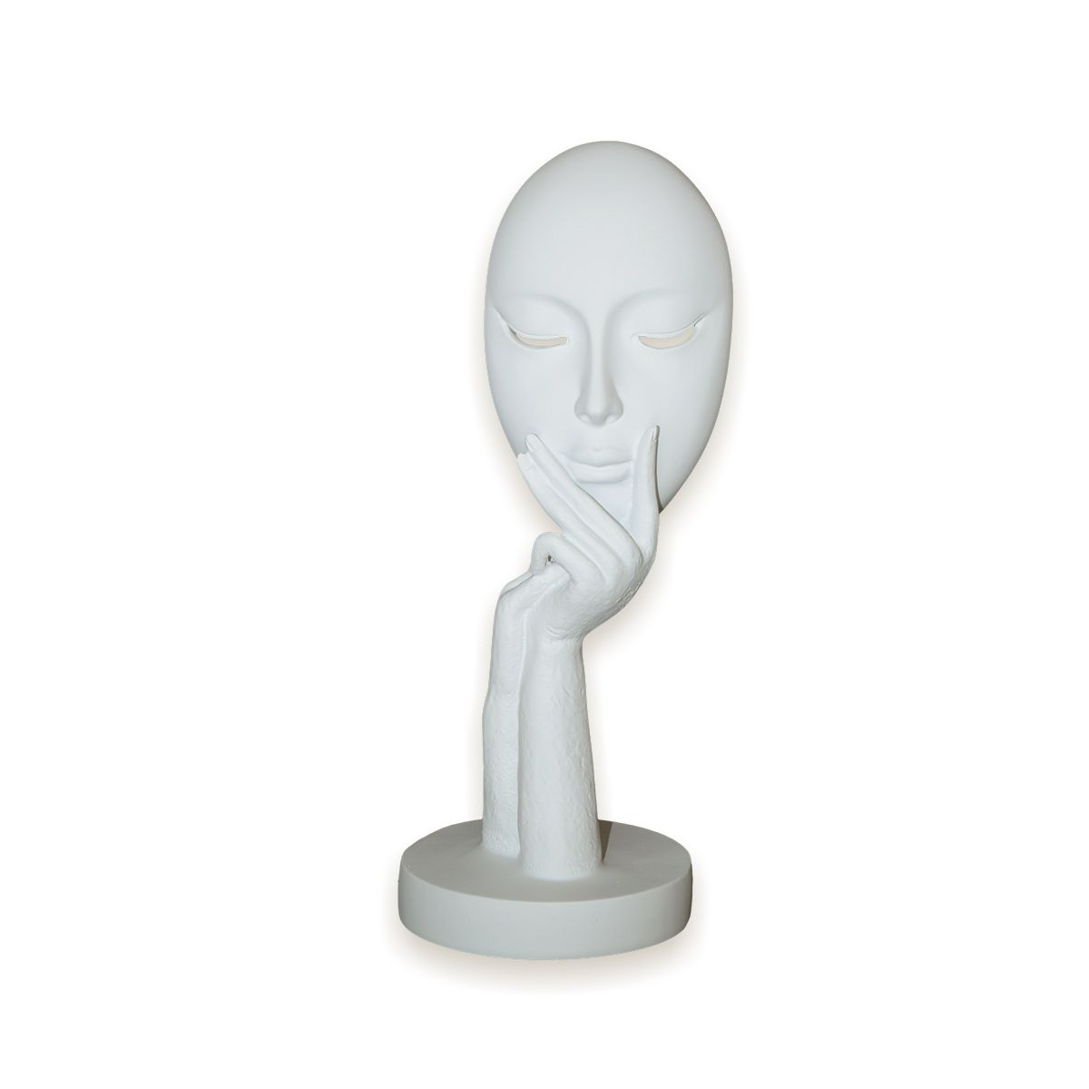 Busto Face Curiosa Branca By Akz Home