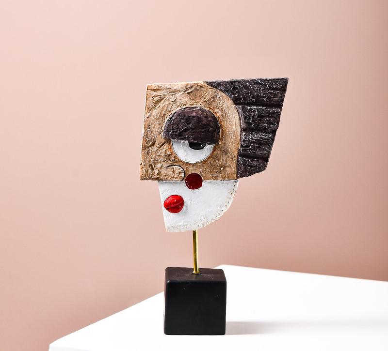 Escultura de Mesa Coleção Releitura Mascaras Picasso A