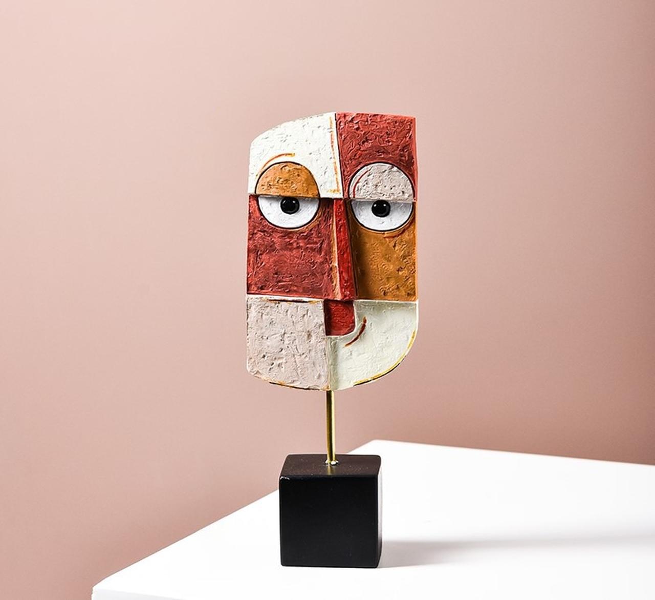 Escultura de Mesa Coleção Releitura Mascaras Picasso  B