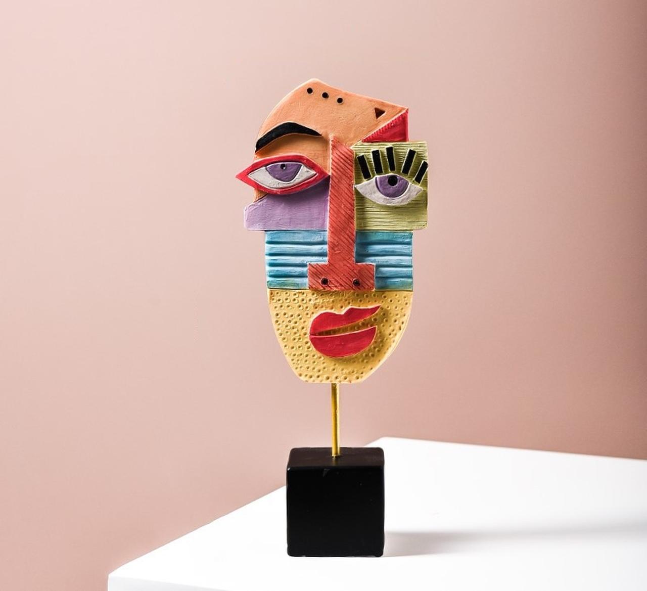 Escultura de Mesa Coleção Releitura Mascaras Picasso D
