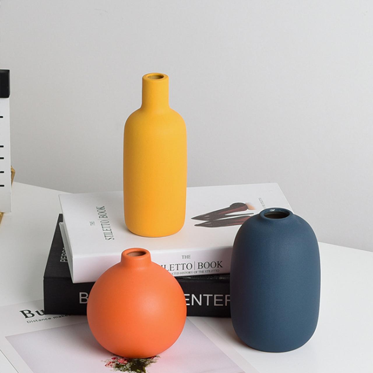 Kit Vasos Decor Morandi Pantone Três Cores