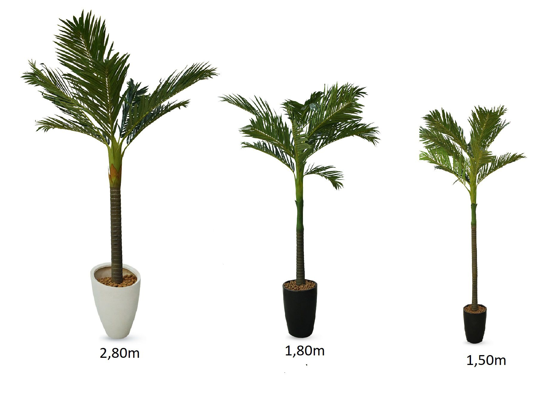 Planta Palmeira Permanente Combo 1,50 1,80 2,80 cm