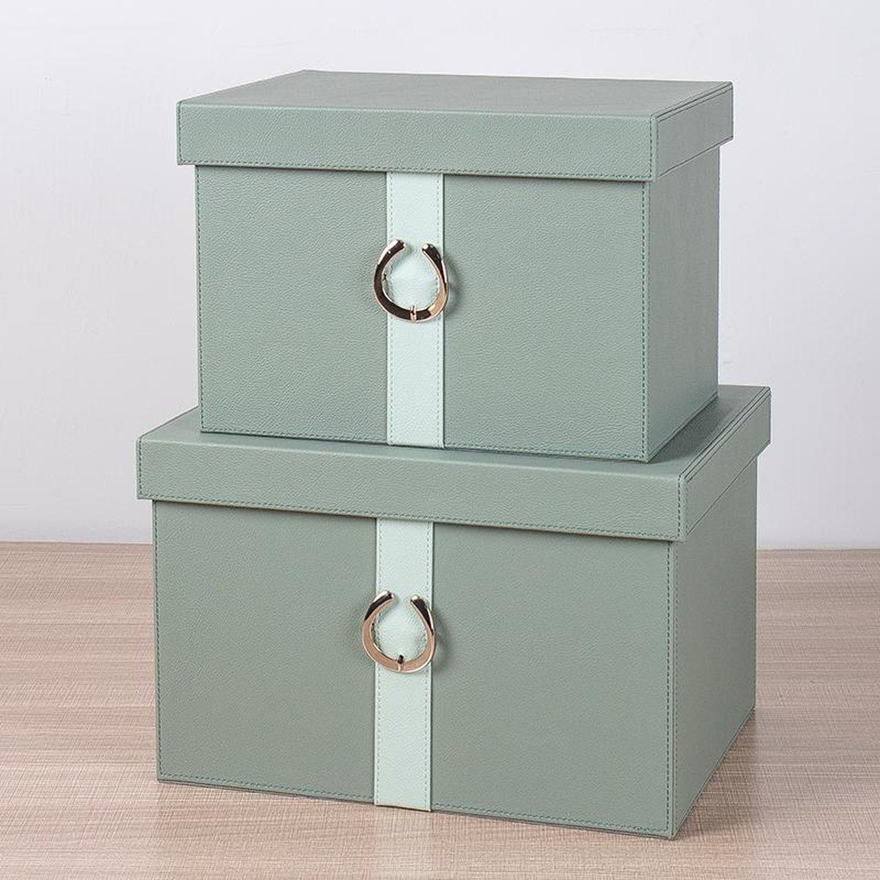 Porta Objetos Verde Com Fivela G