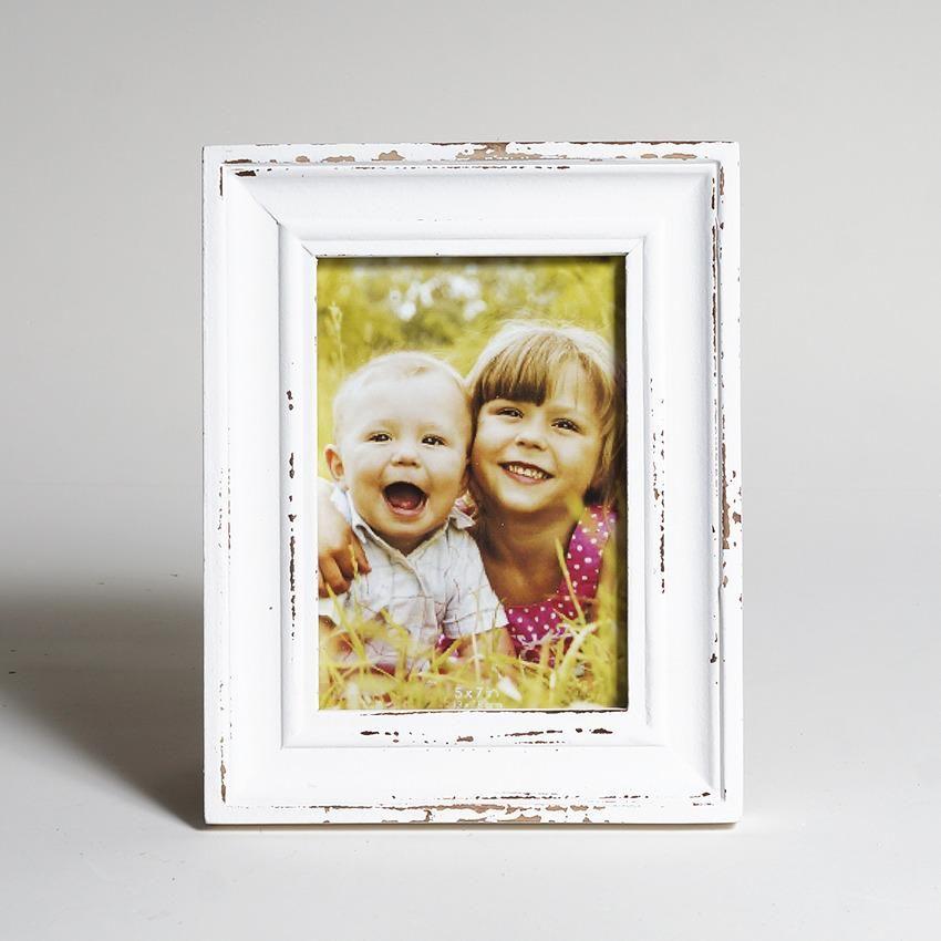 Porta Retrato 5x7 Mad. Demolicao Branco