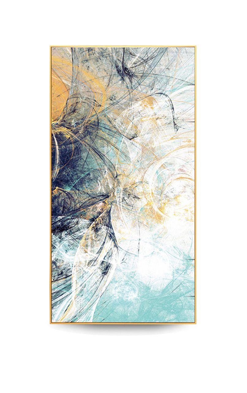 Quadro Decor Coleção Abstrato Tons Azuis