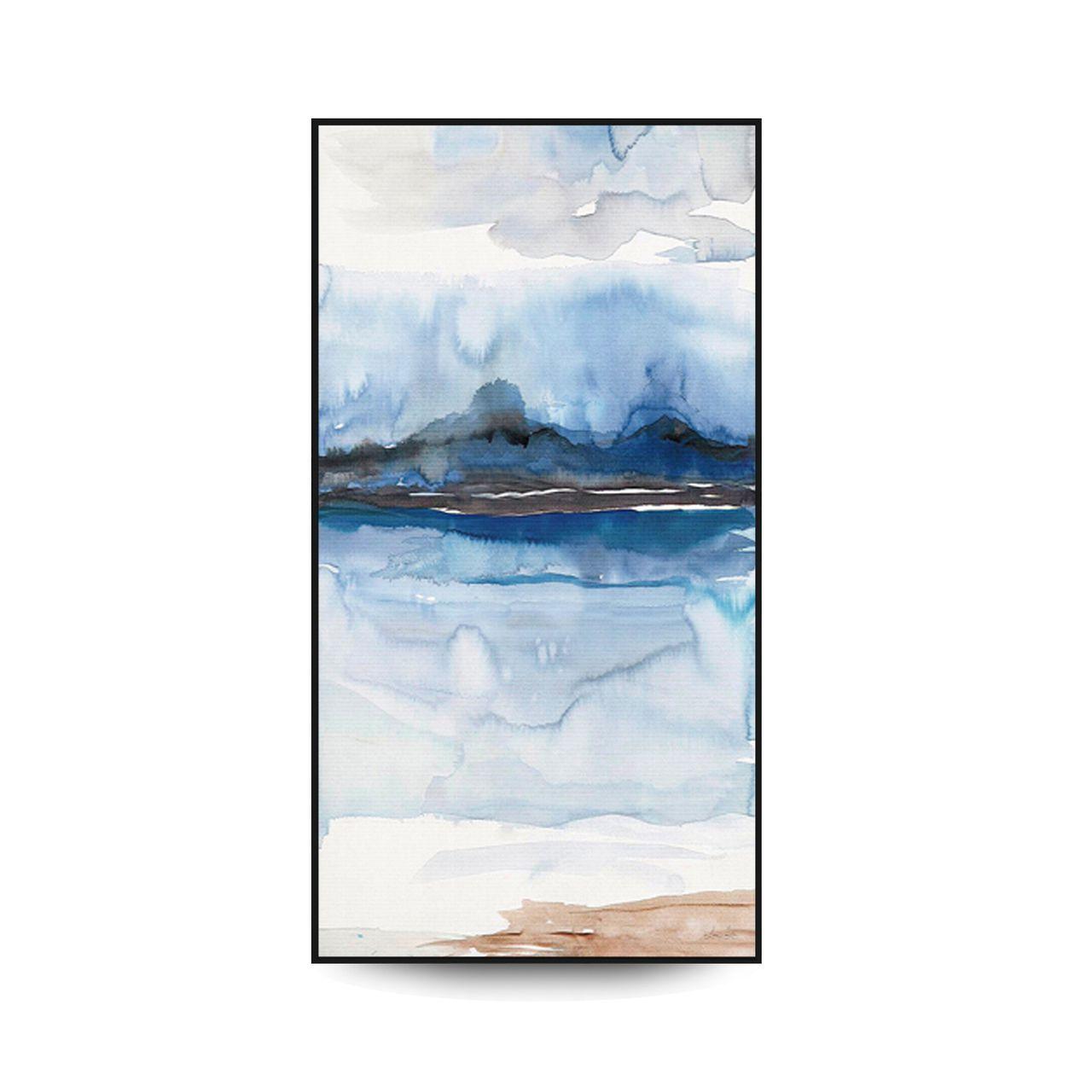Quadro Decor Abstrato Névoa Azul