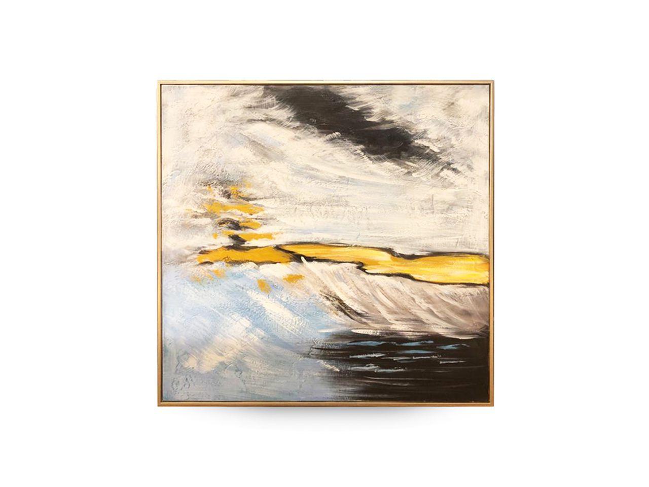 Quadro Decor Abstrato Nuvens e Sombras