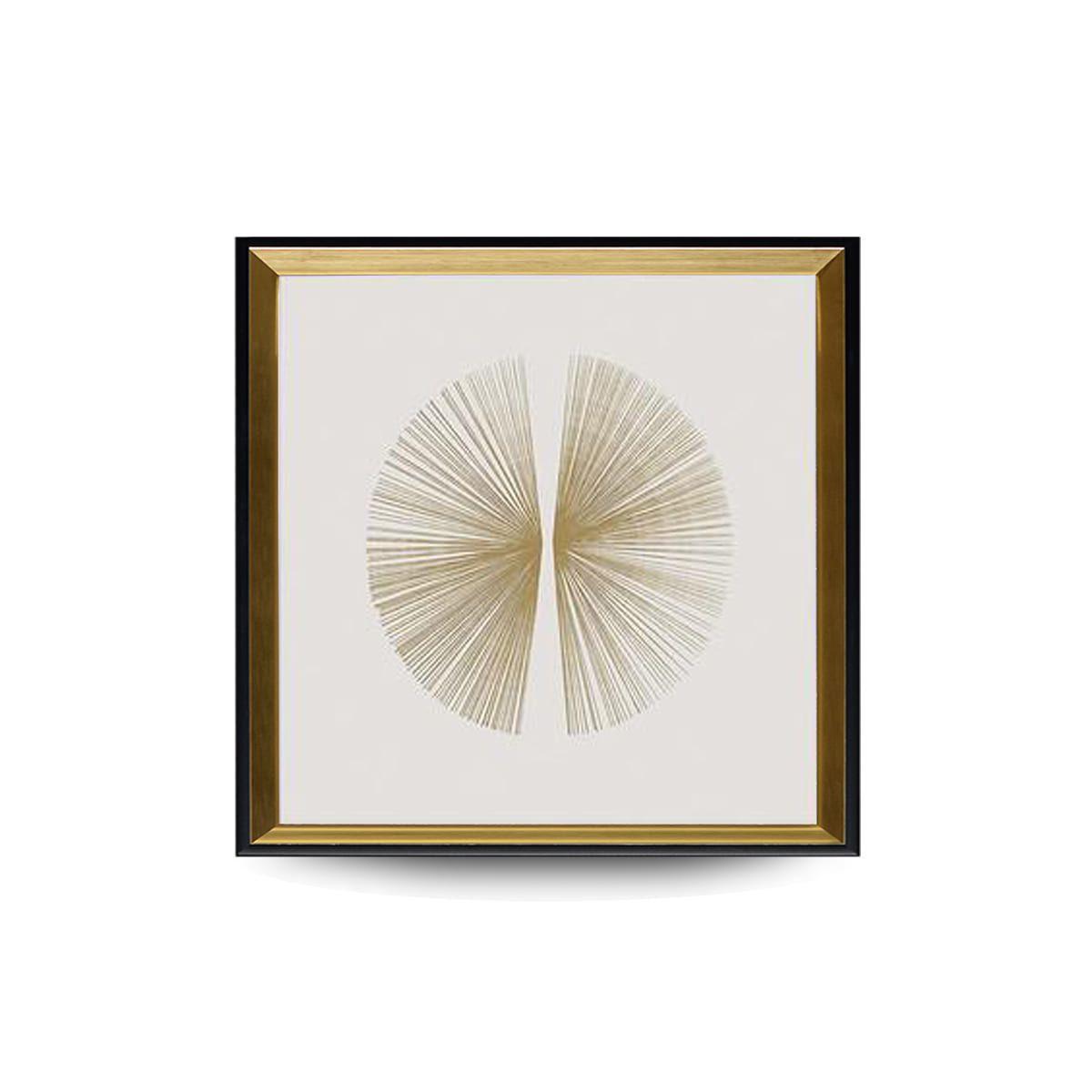 Quadro Decor Círculo Linear Branco