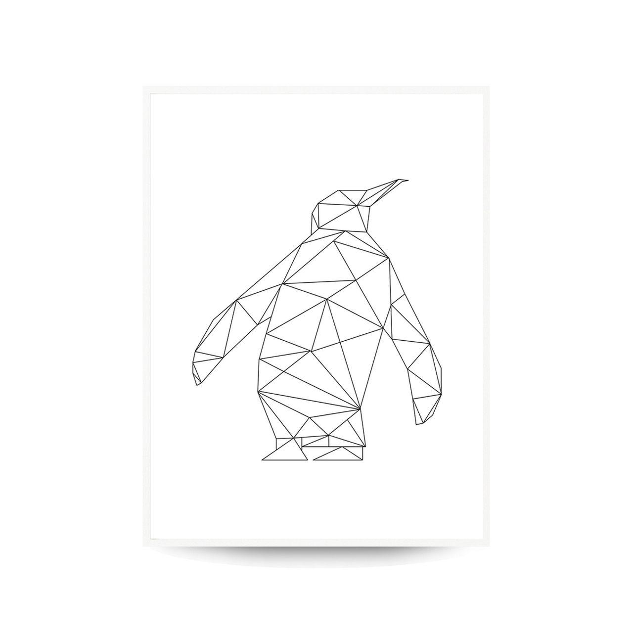Quadro Decor Coleção Gráfico Pinguim