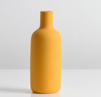 Vaso Decor Morandi Amarelo Pantone
