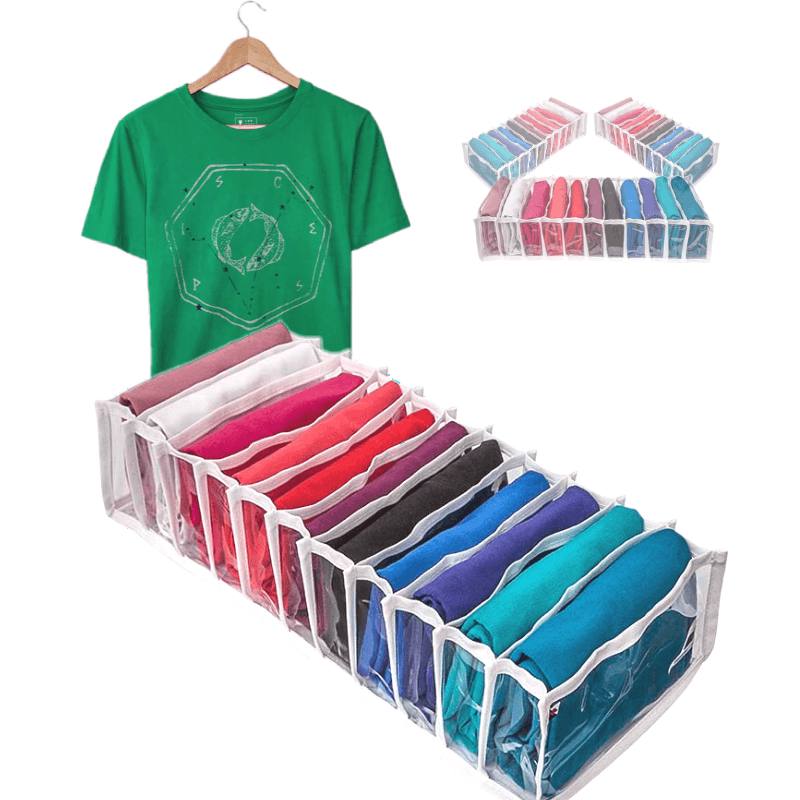 3 Colmeias Organizador De Gavetas 11 Nichos Para Camisetas 20x50x10cm 6.20 PL Branca