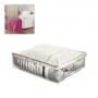 Organizador De Cobertor, Edredom Tamanho P 40x50x15cm Bege (Pack)