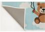 Tapete Infantil Personalizado Ursinho Azul 75cmx1m