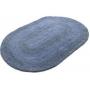 Tapete Oval Azul Tecido Dupla Face 50cmx80cm