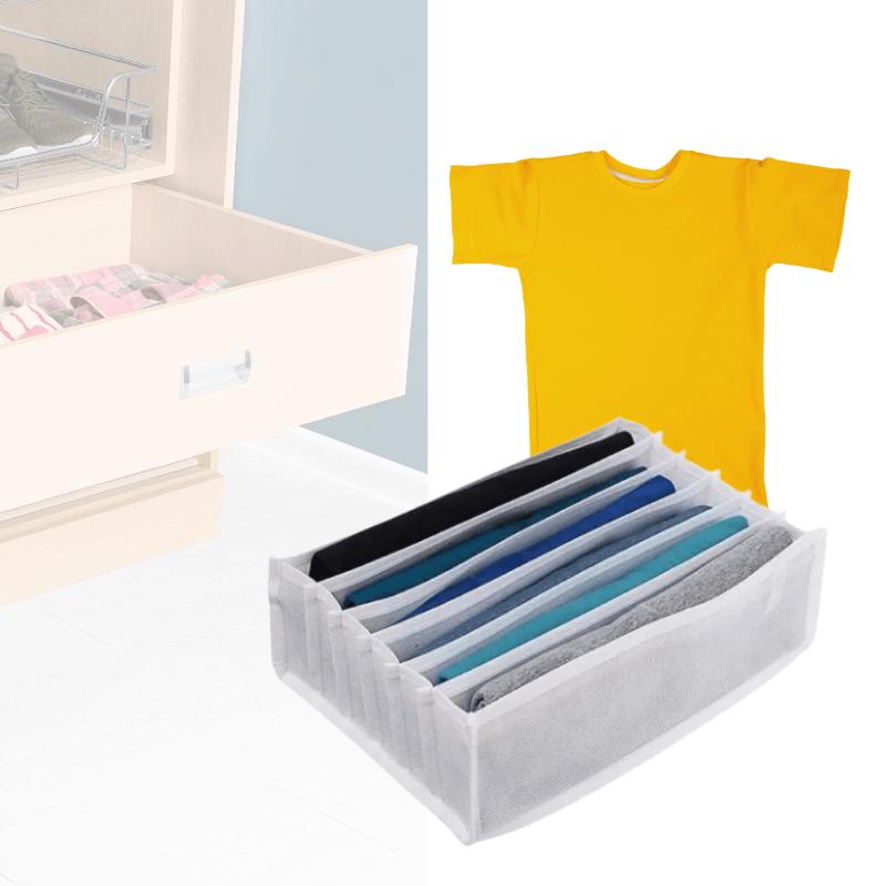 Colmeia Organizadora De Camiseta Sanfonada TNT 6 Nichos 32X25X10cm Branco 1 Un