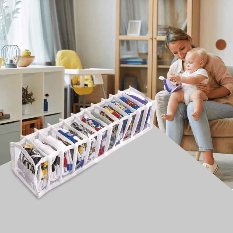 Colmeia Organizadora De Roupinhas de Bebê 11 Nichos PL V.TNT 10X38X8,5 Branco