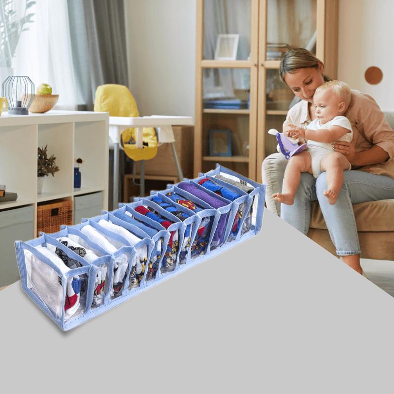 Colmeia Organizadora De Gaveta Infantil 11 Nichos 10x38x8,5cm 7 PL Azul