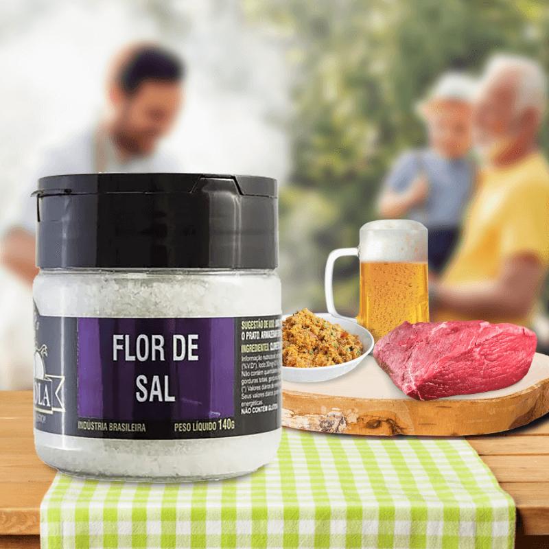Flor de Sal Para Churrasco Tempero Gourmet 140g