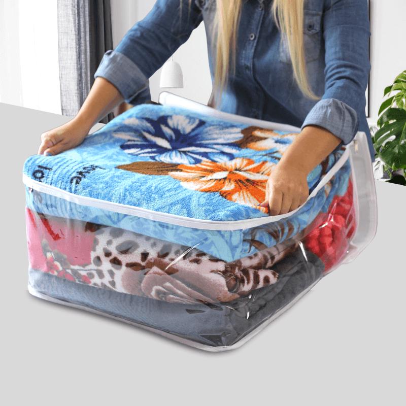 Protetor e Organizador Cobertores Edredons e Mantas G 60x50x28cm