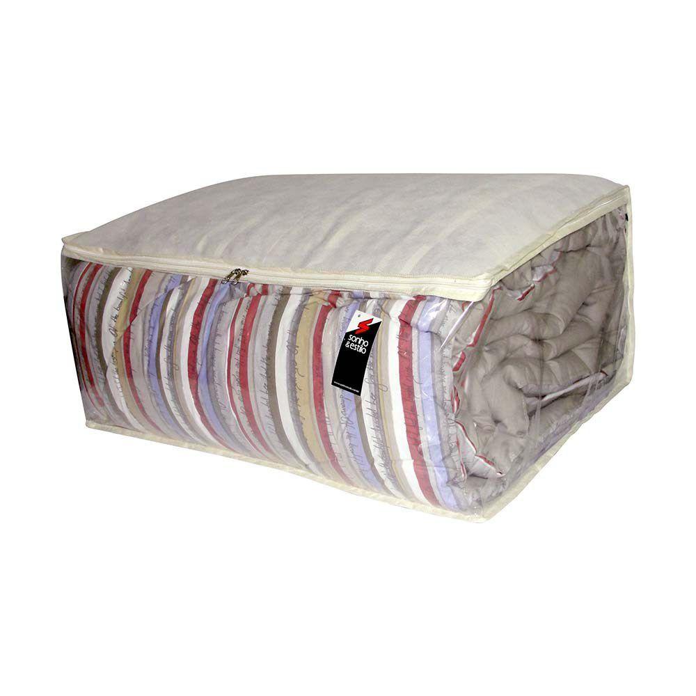 Protetor e Organizador Cobertores Edredons e Mantas GG 70x50x30cm