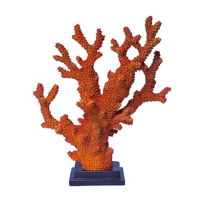 Alga Decorativa na cor Coral em Resina