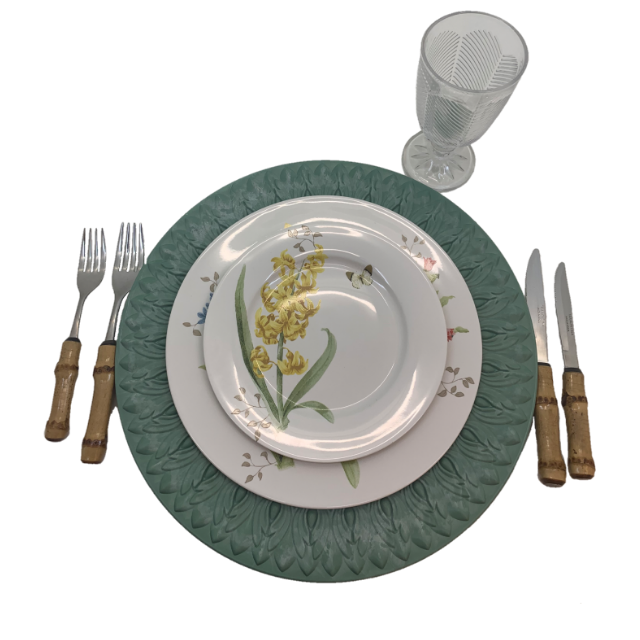 Aparelho de Jantar em Porcelana 30 Peças | Flower